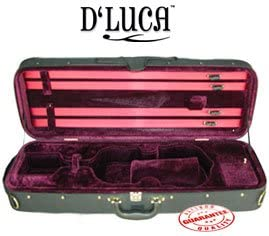 D'Luca CP03 Oblong Violin Case Burgundy