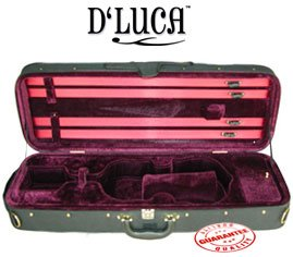 D'Luca CP03 Violin Case - Burgundy, 1/2