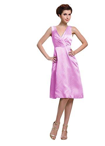Bridal_Mall - Vestido - trapecio - Sin mangas - para mujer rosa 38