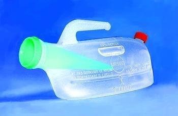 PIURSEC - Spillproof Male Urinal, Each (Ursec Spill Proof Urinal)