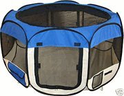 Blue Pet Tent Exercise Pen Playpen Dog Crate XS by BestPet For Sale
