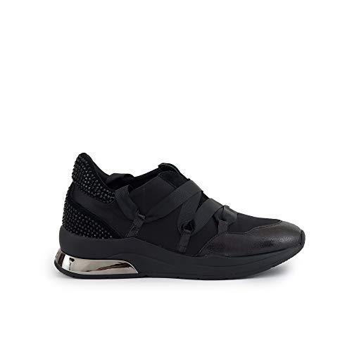 Jo Karlie Negre 03 Sneakers Satin Mujeres Nueve New Strass Liu Black Negro Zapatos 4twRzIq4