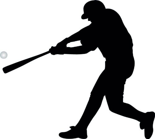 baseball silhouette wall decal - 8