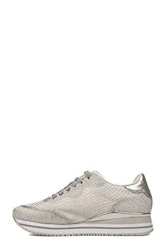 Crime London Zapatillas Para Mujer Plateado/Blanco It - Marke Größe