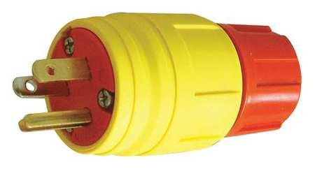 3 Wire Industrial Straight Blade Plug 125VAC 15A by ERICSON (Image #1)