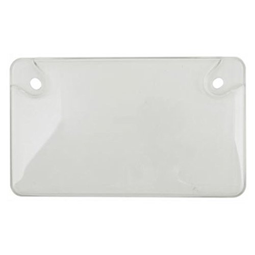 Custom Covers 92778 Clear Unbreakable Motorcycle License Plate Shield ()