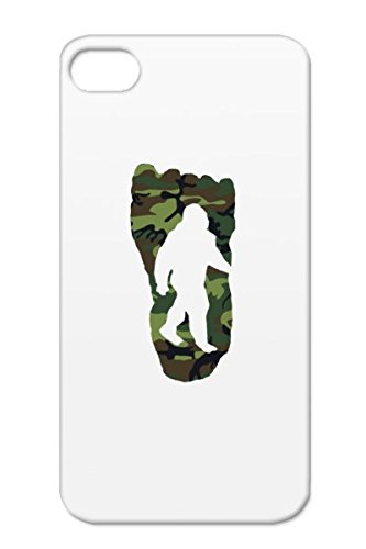 TPU Green Miscellaneous Sasquatch Bigfoot Footprint Funny Camouflage Camo Foot For Iphone 4 Black Bigfoot Footprint Camoufl Cover Case