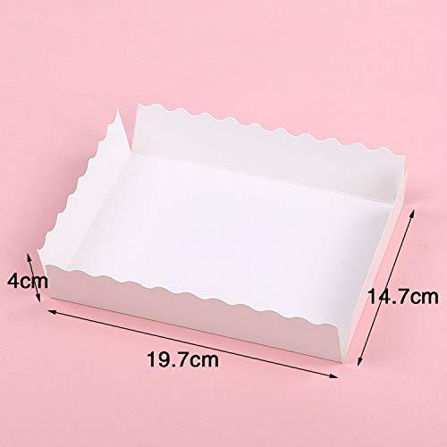 Xiaogongju 1PCS Marble Pattern Portable Kraft Paper Baking Packaging Gift Box Large Cake Boxes Egg Yolk Cookie Candy Gift Boxes -