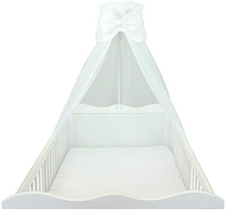 Blanc 170x240 cm env TupTam Ciel de Lit pour B/éb/é avec Un Ruban Transparente