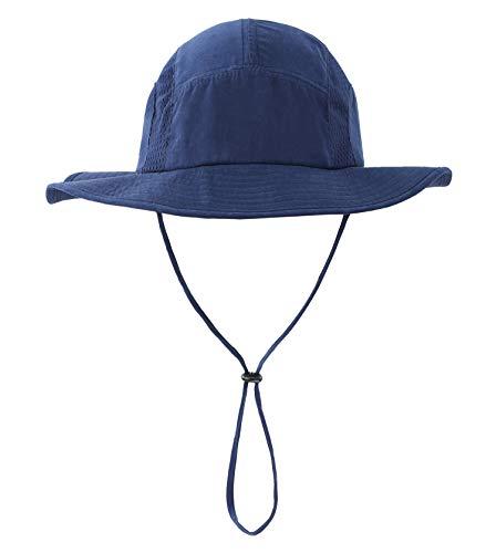- Home Prefer Men's Sun Hat UPF 50+ Wide Brim Bucket Hat Windproof Fishing Hats (N Navy Blue)