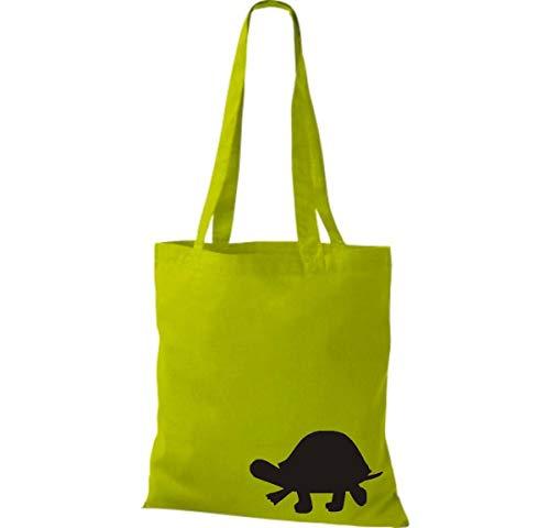 De Tela Divertida Kiwi Tortuga Shirtinstyle Algodón Bolsa Animales PqnExx4F57