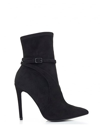 Boots BLACK Sock 5 UK Insert Suede Ankle amp; Kylie Kendall xqwnFA1zYt