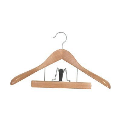 Proman TRF8834 Taurus Suit Hanger with Trouser Clamp - 12 hangers by Proman