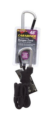 corporation carabiner bungee cord gray