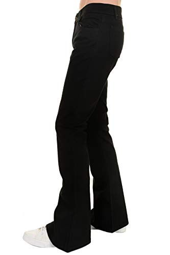 - Run & Fly Men's 60's 70's Indie Retro Vintage Black Stretch Bellbottom Super Flares 32 Long