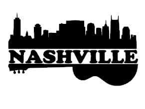 Amazon Com Nashville Music City Guitar And Skyline Vinyl
