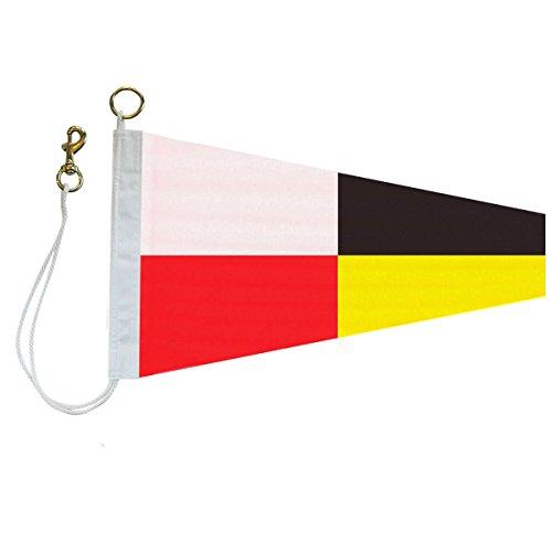 '9' International Code Signal Pennant (No. 3: 1-1/3 ft. x 3 ft.) (Flag Signal Hook)