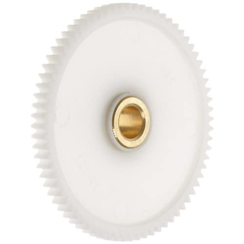 "Boston Gear YPB3240 Spur Gear, Molded Delrin with Brass Inserts, Inch, 32 Pitch, 0.250"" Bore, 1.312"" OD,..."