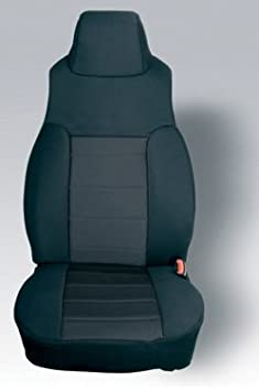 Pair Rugged Ridge 13240.09 Black /& Grey Custom Fit Poly Cotton Front Seat Cover