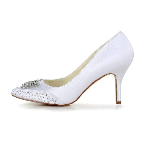 Jia Jia Wedding 8390B2A Hochzeitsschuhe Brautschuhe Damen Pumps Weiß
