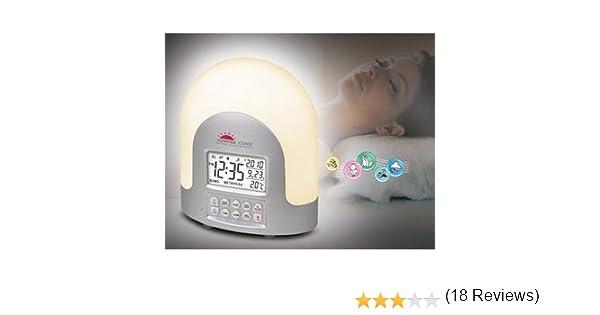 Despertador-simulador del amanecer de alta tecnología – Simulador de la aurora – Ajuste una Señal de Luz Gradual antes de Despertar con hasta 60 ...