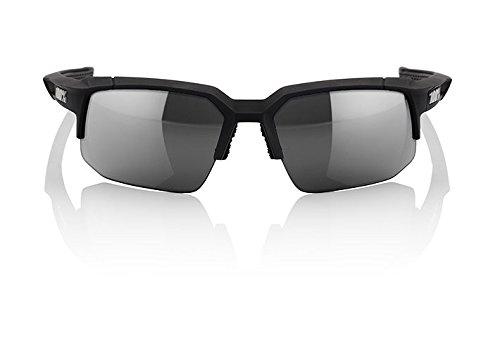 Inconnu 100% speedcoupe Brille Unisex Erwachsene, Soft Touch Schwarz Schwarz Display Smoke