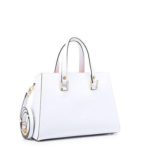 Damen Henkeltasche Weiß Bianco h24x33x15.5cm Braccialini 38VVlJKPM