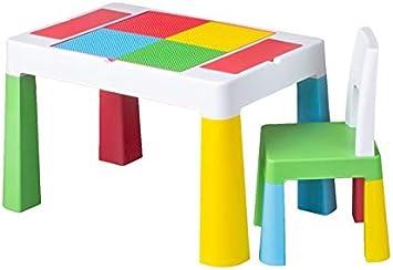 Mesa infantil con niños silla tega® estante superficie para pintar ...