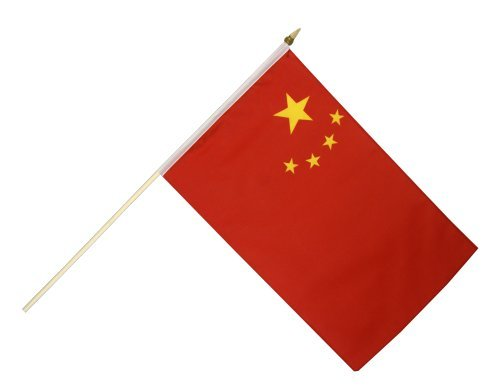 Digni Drapeau Chine sur hampe