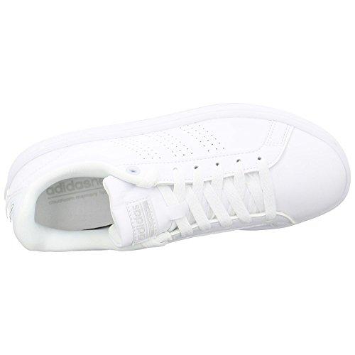 Adidas Damen Cf Vantaggio Cl W Sportschuhe, Elfenbein (ftwr Bianco / Ftwr Bianco / Argento Met.), 42 Eu