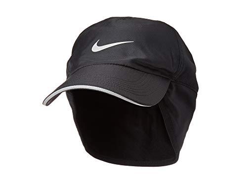 (Nike Mens Aerobill H86 Earflap Running Hat Black/Black)