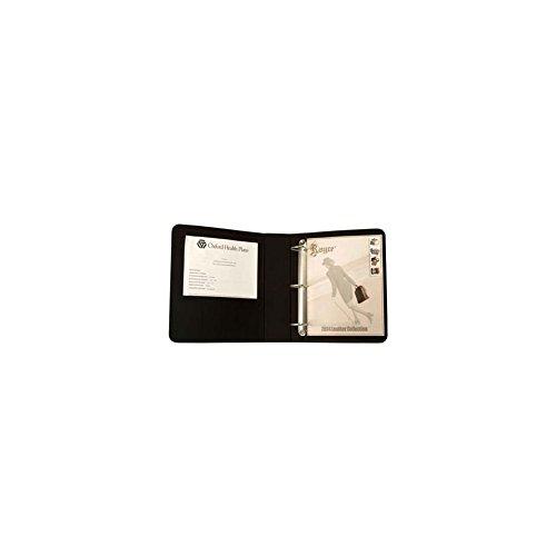 "Emporium Leather Royce Leather 2"" D - Ring Binder, Black"
