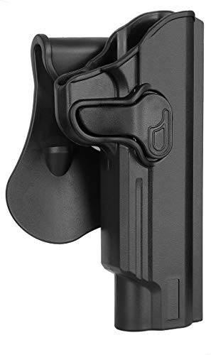"5"" Barrel 1911 Paddle Holster: Fit Colt 1911,Kimber 1911,SW1911,Taurus 1911,Remington 1911 R1,Sig 1911,Ruger SR1911,GSG 1911-For Non Rail -OWB -Right Handed"