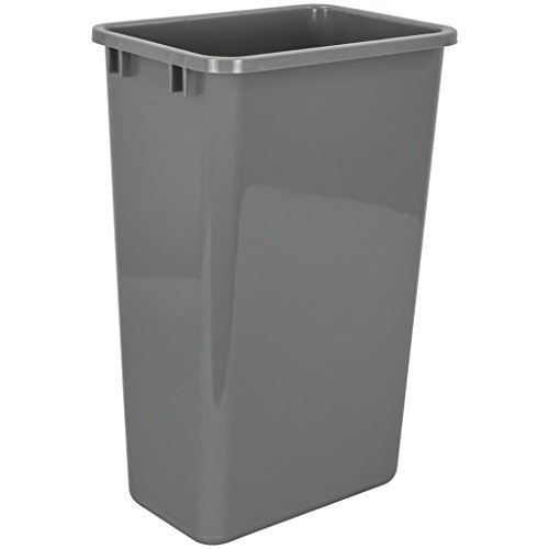 Hardware Resources CAN-50GRY Plastic Waste Container, - 50 Quart Pull