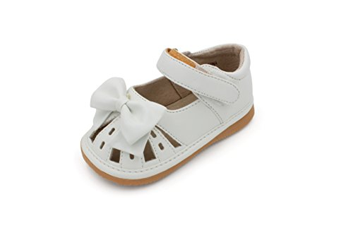 - Toddler Shoes | Squeaky White Bow Sandal Toddler Girl Shoes | Premium Quality (Removable Squeakers) (3)