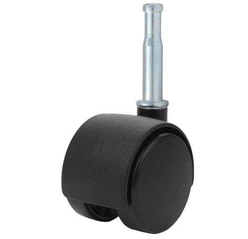 Twin Wheel Caster Solutions TWHN-40N-G02-BK 1.57