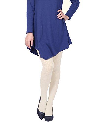 ter Tights Herringbone Textured Opaque Spandex Stockings (White) ()