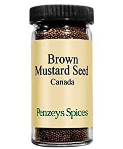 Mustard Seed Brown By Penzeys Spices 2.5 oz 1/2 cup jar