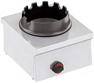 Hornillo de gas para wok 1 fuego, 400 x 450 x 240 mm: Amazon ...