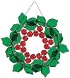 Miles Kimball Christmas Suncatcher (Suncatcher Christmas Stained Glass)