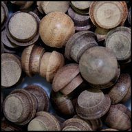 WIDGETCO 3/8'' Walnut Button Top Wood Plugs(QTY 5,000)