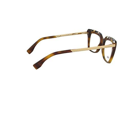 Fendi Montures de lunettes 0088 Pour Femme Tortoise / Black / Ruthenium CUA: Multicolor / Tortoise / Gold