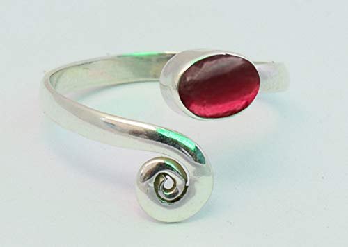 Original Garnet Stone Toe ring 925 Solid Sterling Silver Girl Women Body Jewellery Adjustable Toe Ring