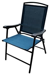 Westfield Outdoor S13-S998B Folding Sling Chair, Turquoise - Quantity 4