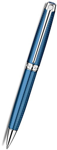 Caran d'Ache Leman Grand Bleu Silver Plated Rhodium Coated Ballpoint Pen