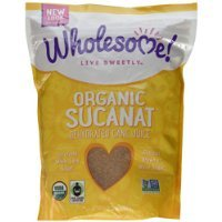 Wholesome Sweeteners Fair Trade Organic Sucanat Brown Sugar -- 2 lbs have a problem Contact 24 hour service Thank You
