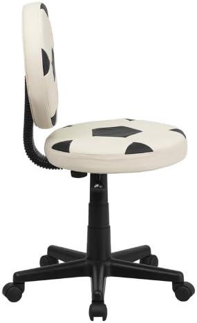 Flash Furniture Soccer Swivel Task Office Chair, BT-6177-SOC-GG, Black and White