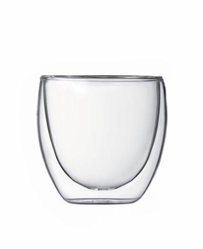 Bodum Pavina 2.5-Ounce Double-Wall Thermo Glasses (Espresso/Shot), Set of 2