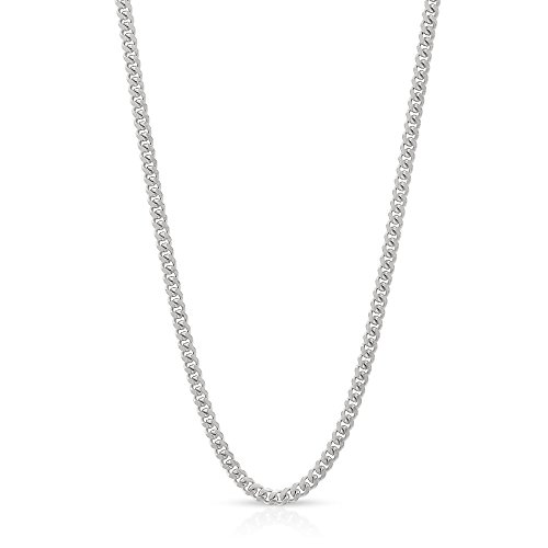 10k White Gold 1.5mm Solid Miami Cuban Curb Link Thick Necklace Chain 16'' - 30'' (20) by In Style Designz
