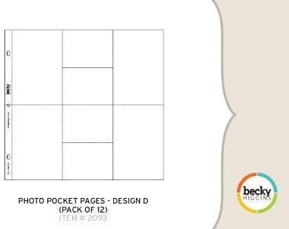Design C Becky Higgins Photo Pocket Pages